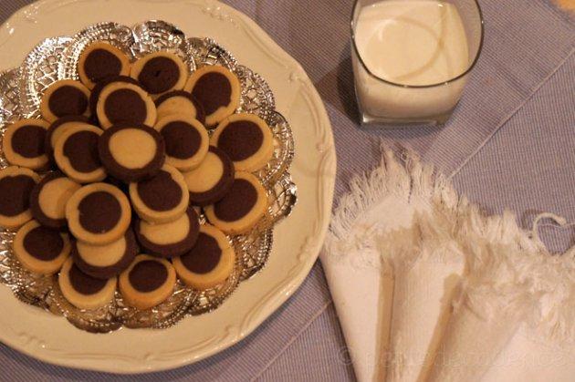 Butter sables on platter