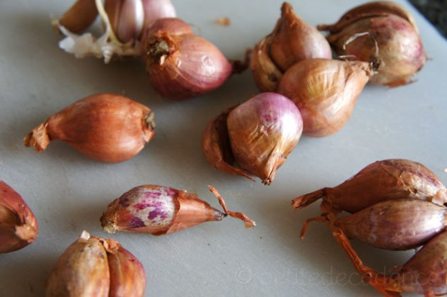 Shallots in shell