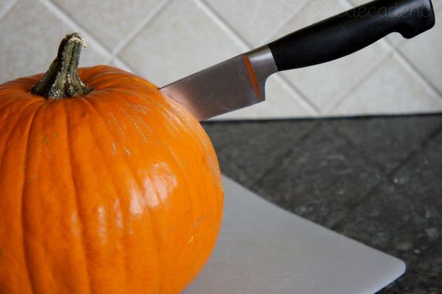 Murdering the pretty halloween pumpkin