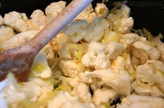 Coking little cauliflowers