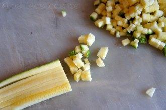 Zucchini brunoise