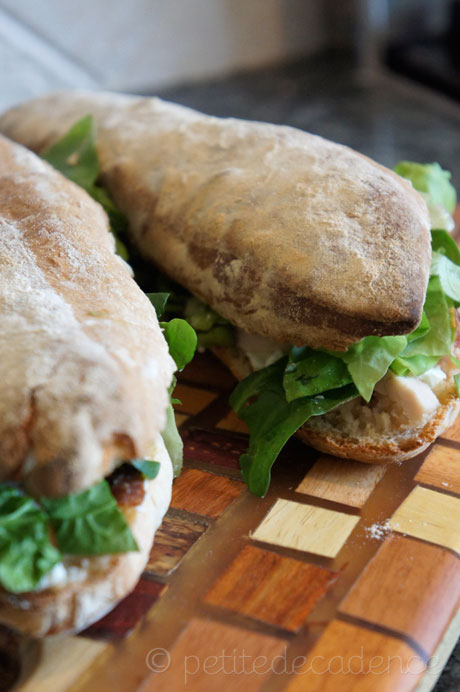 rustic baguettes and turkey sandwiches
