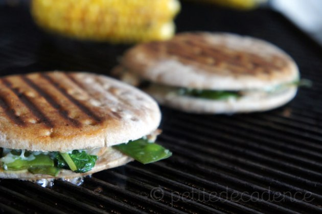 GRilled manchego and snow pea sandwich