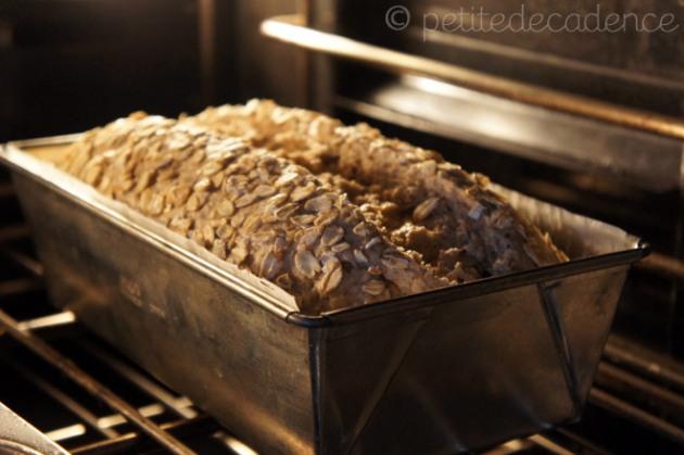 Rye loaf rising