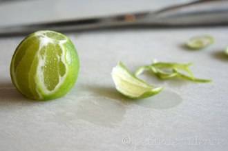 Removing the lime rind