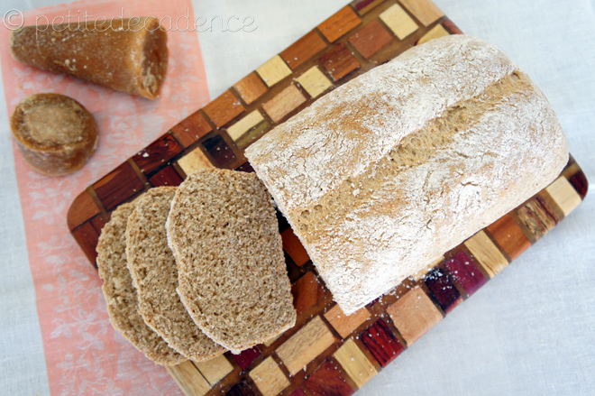 Sour cream whole wheat piloncillo bread