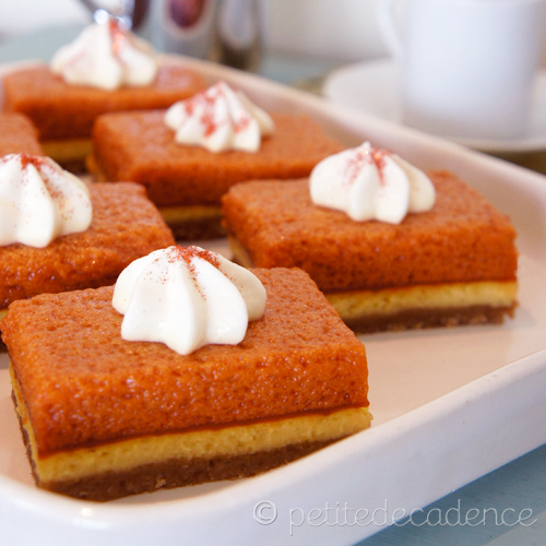 Pumpkin cream cheese pie bars