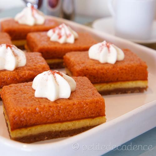 Pumpkin cream cheese pie bars