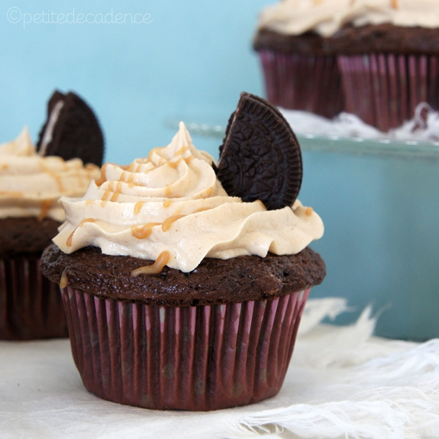 Oreo peanut butter cupcakes