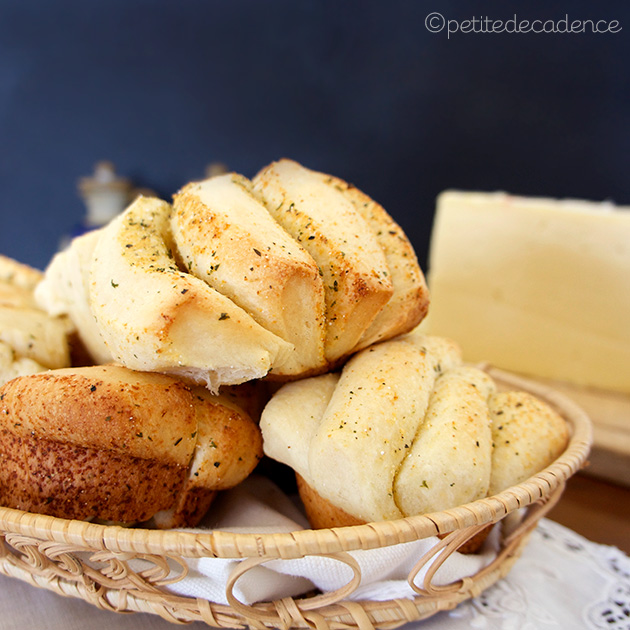 Garlic Parmesan soft butterflake rolls