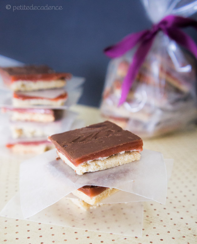 Chocolate and caramel shortbread recipe